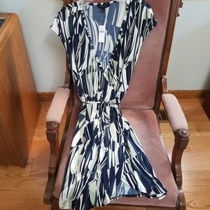 Banana Republic NWT True Wrap Blue Knit Dress